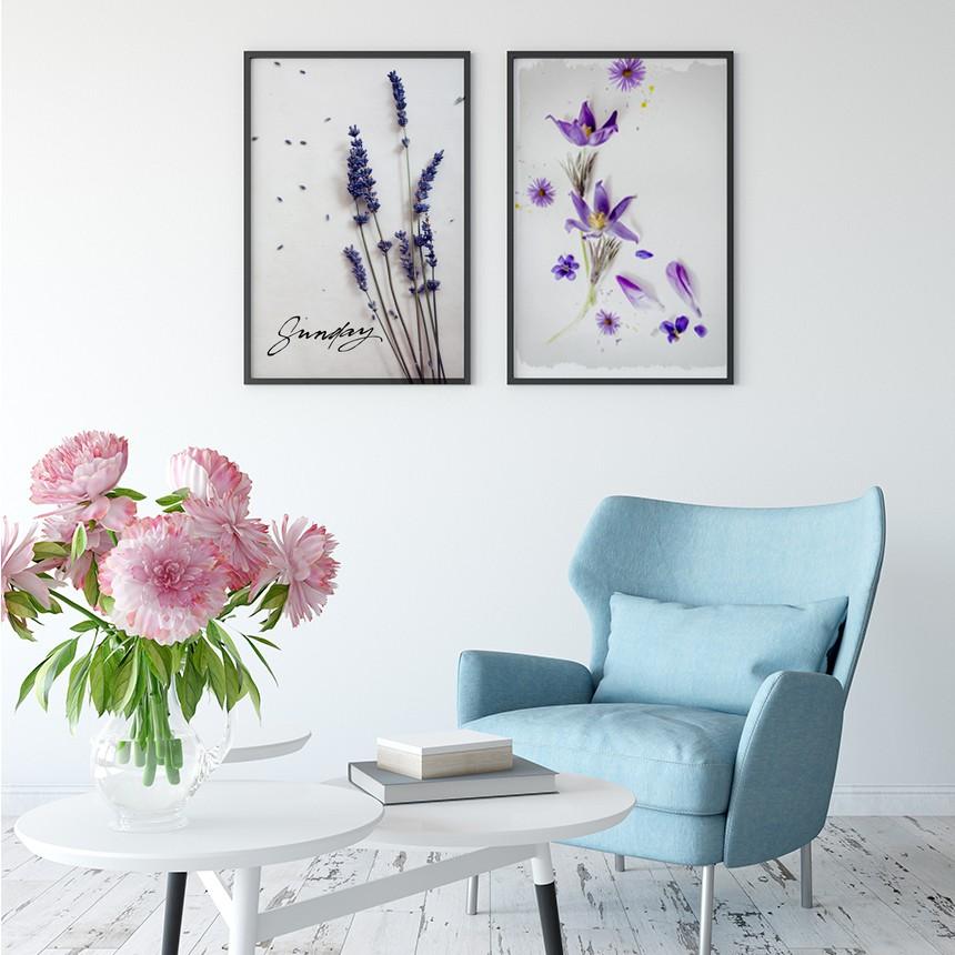 인테리어 액자 라벤더 바이올렛 블랙 수지 액자 A3 - 림드, 31,100원, 홈갤러리, 캔버스아트