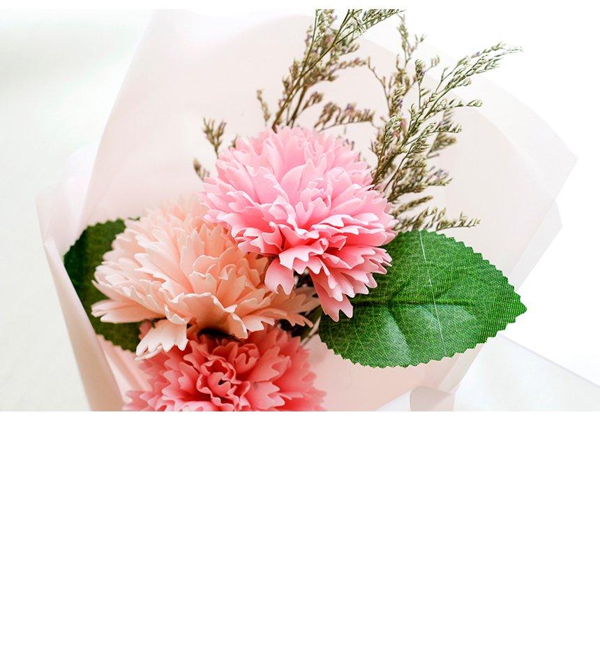 조화 3P 카네이션 비누꽃 심플 미니 꽃다발 - 림드, 11,000원, 조화, 부쉬