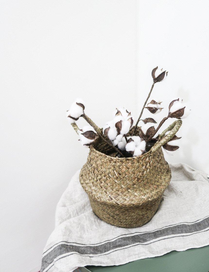 내추럴 왕골 해초 바구니 - 림드, 10,250원, 가드닝도구, 바스켓